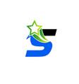 letter s alphabetical logo design concepts vector image
