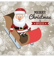 merry christmas card and happy new year santa vector image vector image