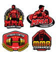 mma training design badge vector image vector image
