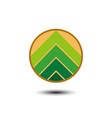 mountain business logo vector image