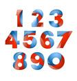 number set colorful 3d volume icon design