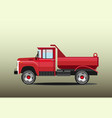 old red dump truck vector image