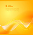 Orange smooth light lines vector image vector image