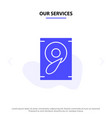 our services music sound speaker solid glyph icon vector image