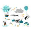 playful cute bapandas vector image