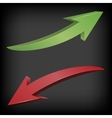 Red and green arrows vector image