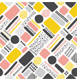 retro geometric hand drawn seamless pattern vector image vector image