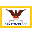 san francisco city flag vector image