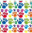 seamless background with hand prints vector image vector image
