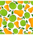 Seamless pattern of pears and apple vector image vector image