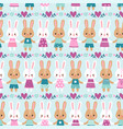 seamless with rabbits vector image vector image