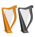 set harps vector image