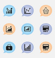 set of 9 editable logical icons includes symbols vector image vector image