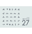 Set of bicycle icons vector image vector image