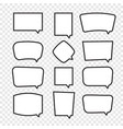 set of rectangle comic speech bubbles vector image vector image