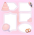 set of wedding stickers vector image vector image