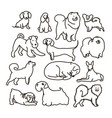 set with cute cartoon dos of different vector image vector image