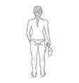 sketch of the girl in swimsuit vector image vector image