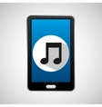 social media mobile music icon vector image vector image