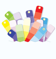 Swatches display vector image