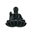 Tian Tan Buddha isolated vector image vector image