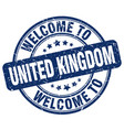 welcome to united kingdom blue round vintage stamp vector image vector image