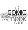 what is a comic book price guide text word cloud vector image vector image
