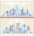 Winter Tree Forest Flat vector image vector image