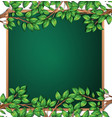 wooden tree branch frame vector image vector image