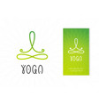 yoga studio logo design template vector image