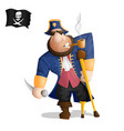a one legged pirate standing vector image