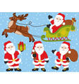 Santa Claus Set vector image