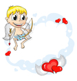 Cupid on cloud vector image