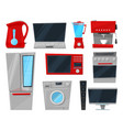 household appliances electronic kitchen vector image