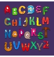 Funny alphabet for kids vector image