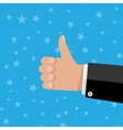 hand thumbs up gesture vector image