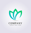 3 leaf abstract template logo for your business
