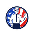 american immigration officer mask stop hand sign vector image vector image