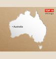 australia map on craft paper texture template vector image vector image