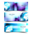 Banner Backgrounds for business card or corporate vector image