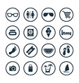beach icons universal set vector image vector image