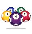 bingo balls icons realistic vector image vector image