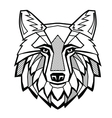 black Wolf head vector image