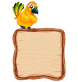 board template with cute bird on white background vector image vector image