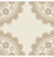 Boho floral mandalas frame vector image