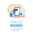 booking flight tickets online flat flyer vector image vector image