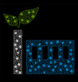 bright mesh 2d eco plant with flash spots vector image vector image