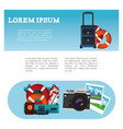 brochure travel tourism vacation vector image