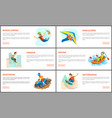 bungee jumping and hang gliding parkour rafting vector image vector image