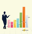 Businessman showing graph vector image